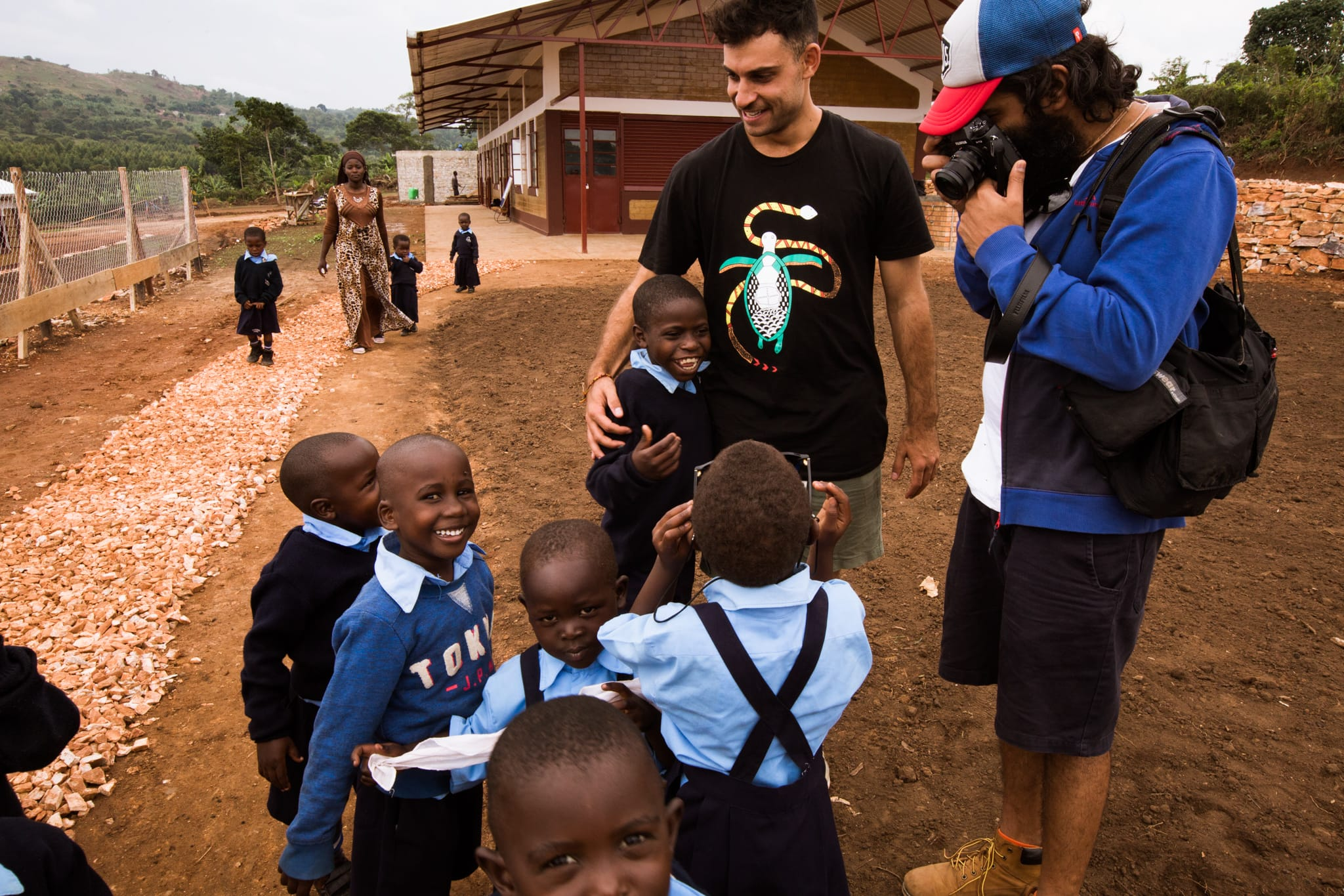 Photo credit: Jake Trindorfer. Magic moments at the School For Life with Kabir and the team.